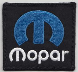 Mopar Blue M Embroidered Cloth Patch