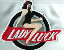 Lady Luck Big Wheel Back Patch