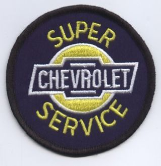 Super Chevy Service Round Cloth Patch