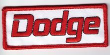Dodge Script Oblong Patch