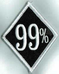 99% White Border Diamond Patch