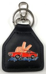 Hey Charger Valiant Charger Genuine Leather Keychain/Fob