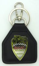 Ducati Mechanica Nostalgic genuine Leather keyring/Fob