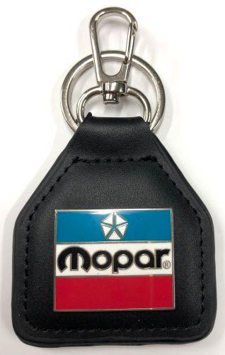 Mopar 3 Colour Leather Keyring