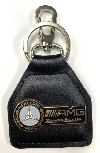 Mercedes AGM Metal Genuine Leather Keyring/fob