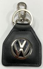 VW Logo Genuine Leather Keyring/Fob