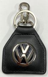 VW Logo Genuine Leather Keyring/Fob