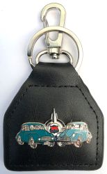 Morris Duo Genuine Leather Keyring/Fob