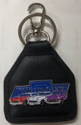 Chevrolet 55 56 57 Genuine Leather Keyring/fob