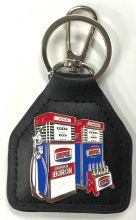 Ampol Boron Genuine Leather Keyring/Fob