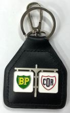 BP/COR Retro Genuine Leather Keyring/Fob