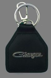 Charger Script Genuine Leather Keyring/Fob