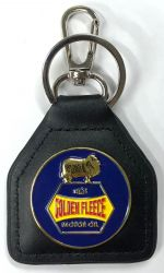 Golden Fleece Genuine Leather Keyring/Fob