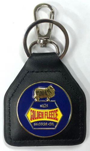 Golden Fleece Genuine Leather Keyring/Fob