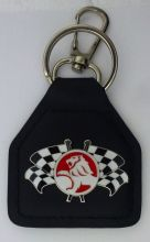 Holden 2 Flags Genuine Leather Keyring/Keyfob