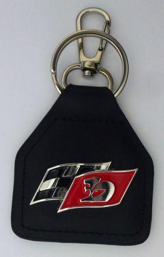 Holden Maloo HSV R8 Twin Flags  Genuine Leather Keyring/Keyfob