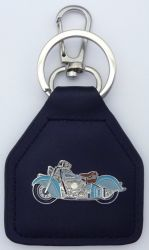 Indian Chief Motocycle Leather Keyring