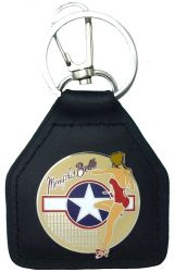 Memphis Belle Genuine Leather Keyring/fob