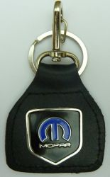 Mopar Blue Shield Genuine Leather Keyring/fob