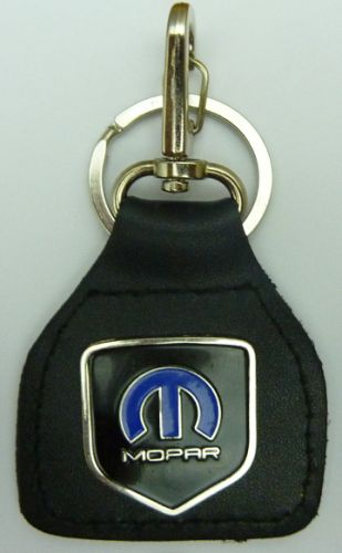 Mopar Blue Shield Genuine Leather Keyring/fob