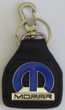 Mopar Big M Geniune Leather Keyring/Keyfob