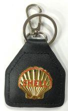 Shell Genuine Leather Keyring/Fob