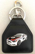 Ford Pickford No1 Mustang Genuine Leather Keyfob/ring