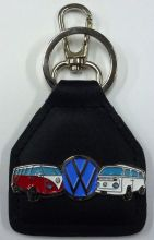 VW Kombi Duo Genuine Leather Keyfob/Keyring