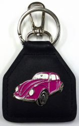 VW Early Model Genuine Leather Keyring/Keyfob