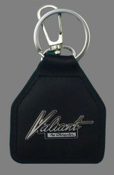 Valiant Script Genuine Leather Keyring/Fob