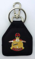 Vespa Scooter Man Leather Keyring Keyfob