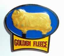 Golden Fleece Ad Sign Badge