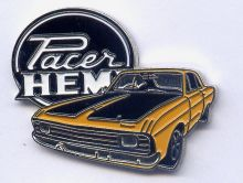 Chrysler Valiant Hemi Pacer  Lapel Pin / Badge