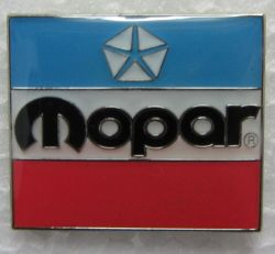 Mopar 3 Colour  Lapel Pin / Badge