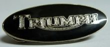 Triumph Black Oval Badge