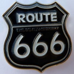 Route 666 The Devils Highway Badge