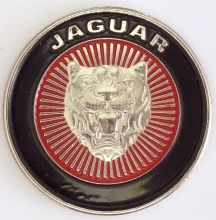 Jaguar Red Round Emblem Badge