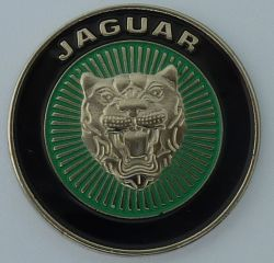 Jaguar Green Round Emblem Badge