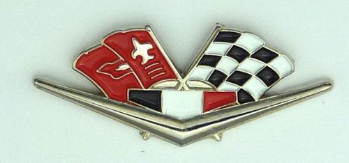 Chevrolet Corvette Impala Camaro Old Flag  Lapel Pin / Badge