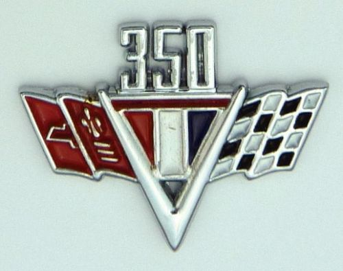 Chevrolet 350 Flags  Lapel Pin / Badge