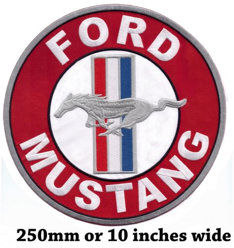 Ford Mustang Round Red Back Patch