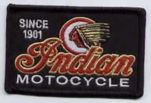 Indian Red on Black Patch