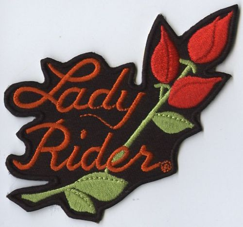 Lady Rider 01 Rose Embroidered patch