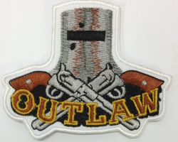 Ned Helmet2Pistols Outlaw Patch