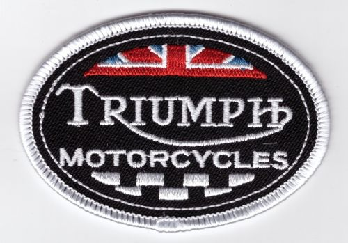 Triumph Old Oval Chequered Flag Patch
