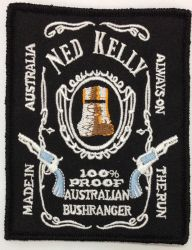 Ned Kelly Scroll Label Patch