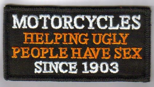 Motorcycles and Ugly People Patch