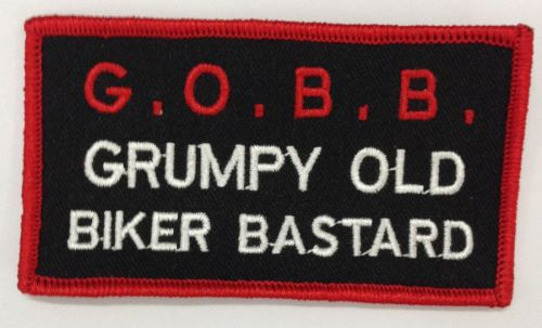 Grumpy Old Biker Bastard Patch