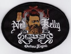 Ned Kelly Oval 2 Pistols Patch