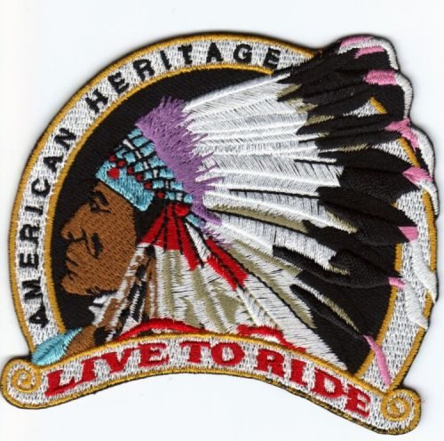 Live to Ride Indian Patch